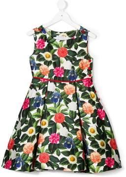 Oscar de la Renta Kids Flower jungle mikado dress