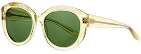 Barton Perreira Patchett Translucent Sunglasses, Champagne/Bottle Green