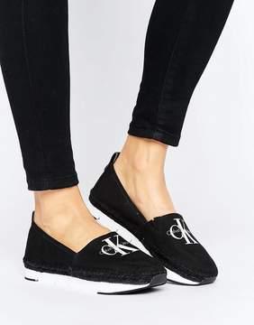 Calvin Klein Jeans Genna Black Logo Espadrilles