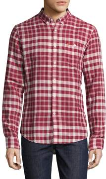 Farah Men's Anderton Plaid Sportshirt