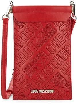 Love Moschino Women's Portacel Faux Leather Crossbody Bag