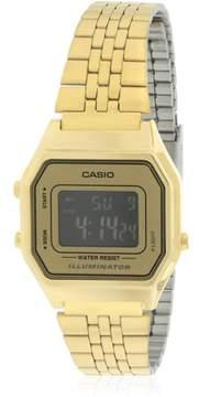 Casio Gold- Tone Digital Retro Ladies' Watch, LA680WGA-9B