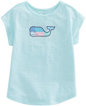 Vineyard Vines Girls Patchwork Whales Swing Tee