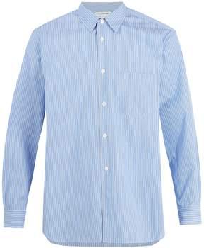 Comme des Garcons Forever pinstriped cotton-poplin shirt