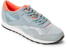 Reebok Gable Grey & Neon Coral Classic Nylon Jogger Sneakers