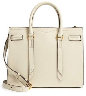 Rebecca Minkoff Sherry Calfskin Leather Satchel - WHITE - STYLE