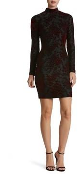 Dress the Population Women's Dana Floral Velvet Body-Con Dress