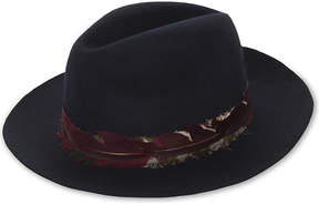 Zadig & Voltaire Alabama scarf wool trilby hat