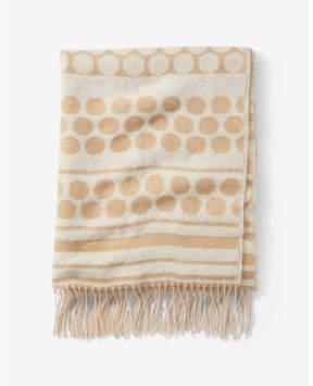 Express polka dot fringe blanket scarf
