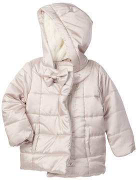 Jessica Simpson Faux Fur Lined Quilted Jacket (Baby Girls 12-24M)