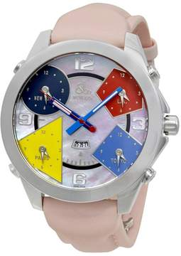 Jacob & co Five Time Zones Pink Mother of Pearl Unisex Watch