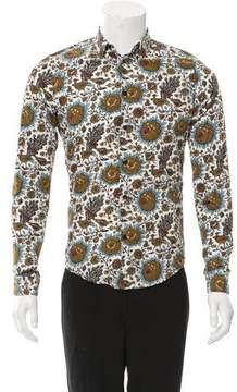 Balenciaga Floral Print Button-Up Shirt