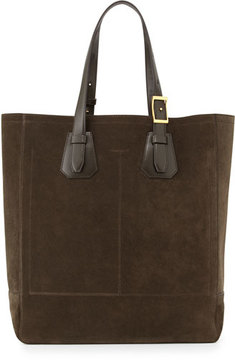 Tom Ford Men's Suede Tote Bag, Olive