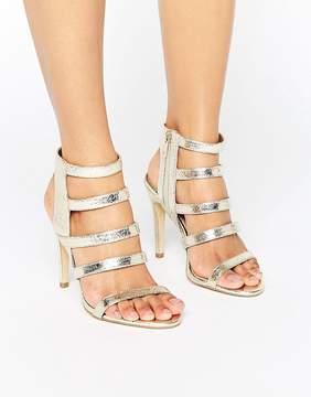 New Look Metallic Strappy Heeled Sandal