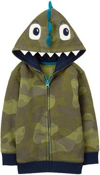Gymboree Camo Dino Zip-Up Fleece-Lined Hoodie - Infant