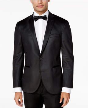 Kenneth Cole Reaction Men's Slim-Fit Charcoal Velvet Dinner Jacket