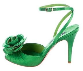 Ralph Lauren Satin Floral Pumps