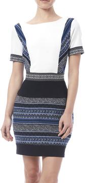 Adelyn Rae Jacquard Sheath Dress