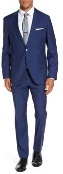 BOSS Men's Trim Fit Solid Wool Suit