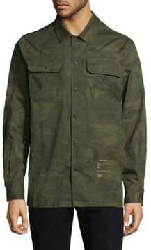 Ovadia & Sons Camouflage Cotton Button-Down Shirt