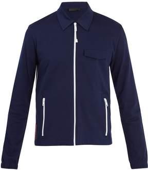 Prada Contrast stripe cotton-piqué jacket