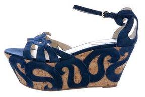Etro Platform Wedge Sandals
