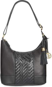 Giani Bernini Pebble Leather Double-Zip Hobo