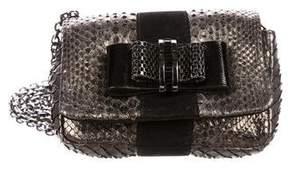 Christian Louboutin Python Mini Sweet Charity Bag