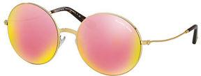 Michael Kors Mirrored Round Metal Sunglasses
