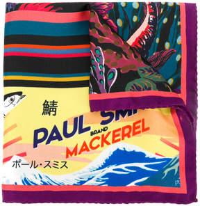 Paul Smith Mackerel print scarf