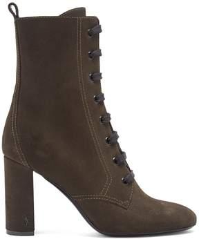 Saint Laurent Loulou lace-up suede ankle boots