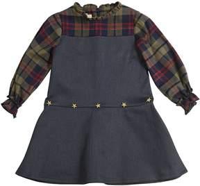 La Stupenderia Stretch Denim & Cotton Flannel Dress