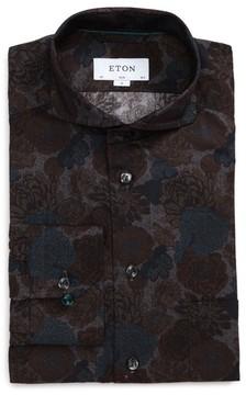 Eton Men's Slim Fit Floral Print Dress Shirt