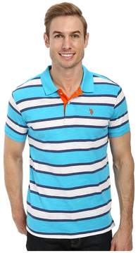 U.S. Polo Assn. Slub Slim Fit Polo Men's Short Sleeve Pullover