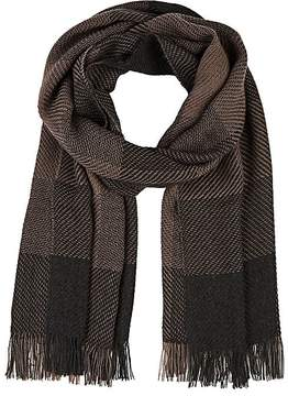 Barneys New York MEN'S CHECKED KNIT SCARF