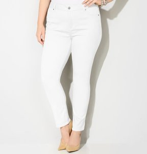 Avenue Butter Denim Legging Jean (White) 28-32