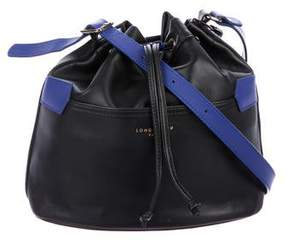 Longchamp Leather Drawstring Bucket Bag