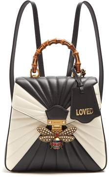 Gucci Queen Margaret quilted-leather backpack - BLACK WHITE - STYLE