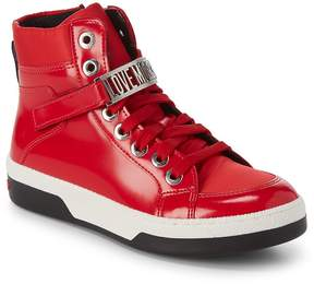 Love Moschino Women's High-Top Leather Logo Sneakers