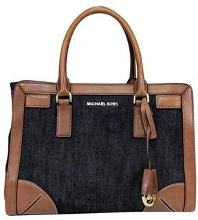 Michael Kors Brown Leather & Denim Purse - BROWN - STYLE