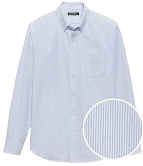 Banana Republic Camden Standard-Fit 100% Cotton Stripe Oxford Shirt