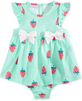 First Impressions Strawberry-Print Cotton Skirted Romper, Baby Girls (0-24 months), Created for Macy's