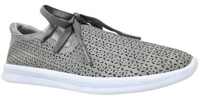 Mossimo Women's Raelee Laser Cut Lace-Up Sneakers Gray