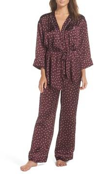 Chelsea28 Women's Wrap Satin Pajamas