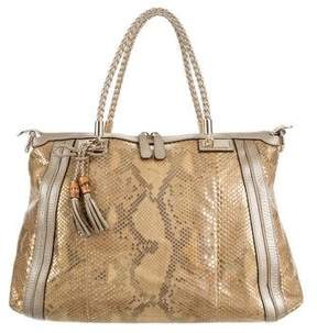Gucci Python Bella Top Handle Bag - ANIMAL PRINT - STYLE