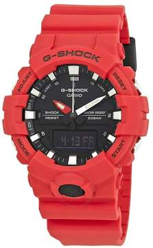 Casio G-Shock Black Dial Men's Red Resin Watch