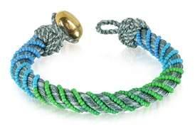 Aurelie Bidermann Women's Multicolor Canvas Bracelet.