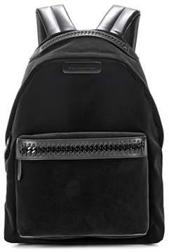 Stella McCartney Falabella GO black velvet backpack