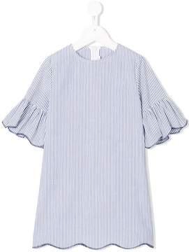 Il Gufo striped ruffle dress