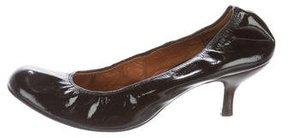 Lanvin Patent Leather Round-Toe Pumps